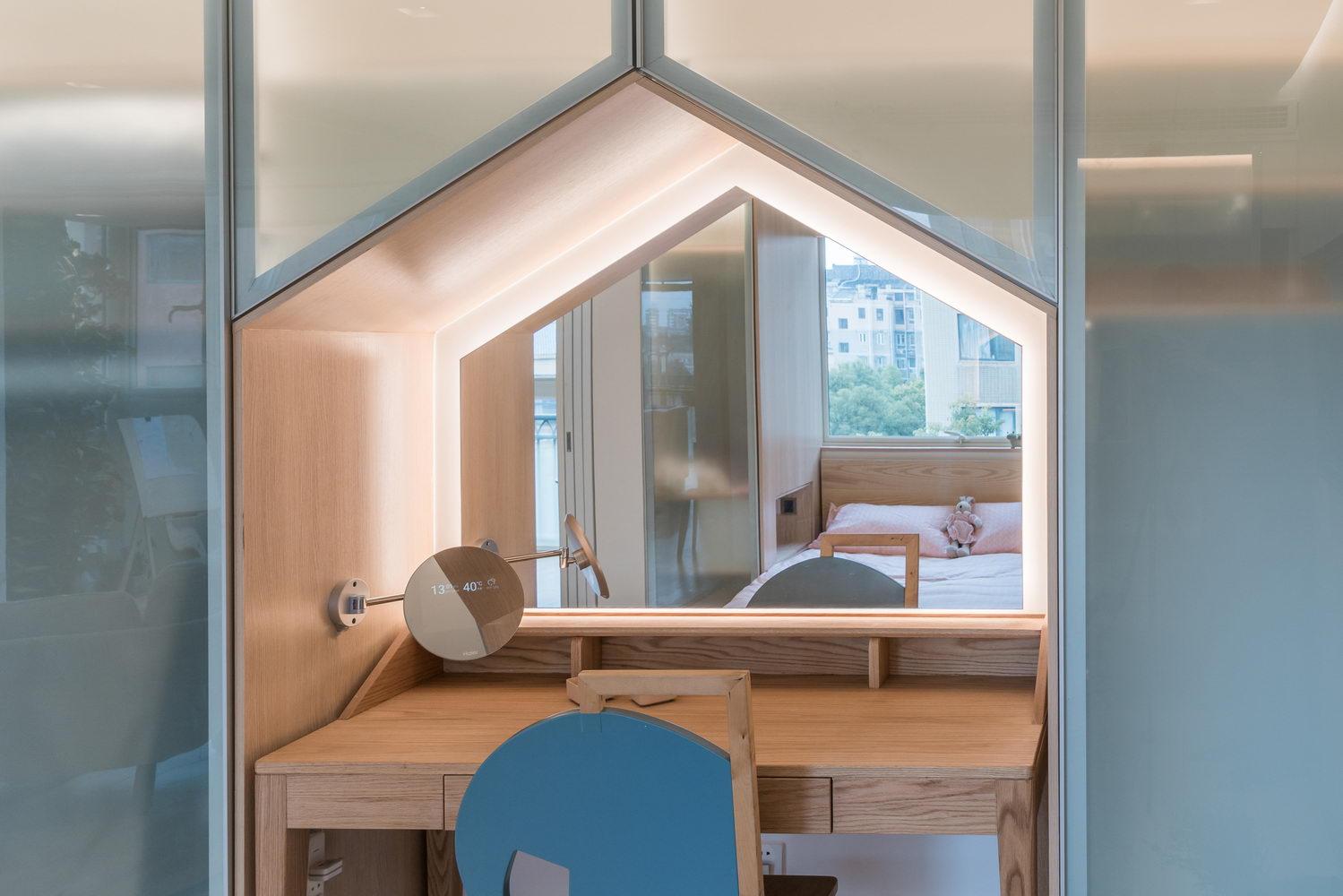 nyugtató színek - lakás gyerek emelete ágy