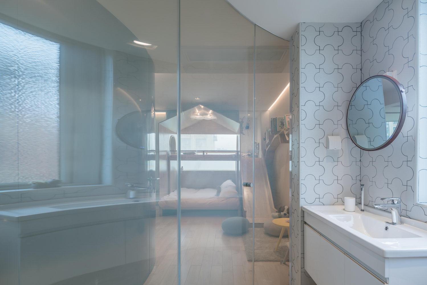nyugtató színek - lakás fürdőszoba