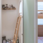 nyugtató színek - lakás gyerek rejtekhely