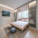 nyugtató színek - lakás hálófülke