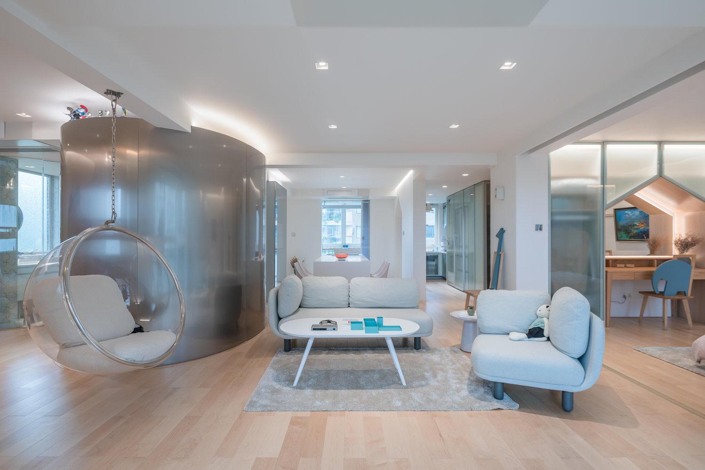 nyugtató színek - lakás nappali