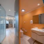 nyugtató színek - lakás wc mosdó