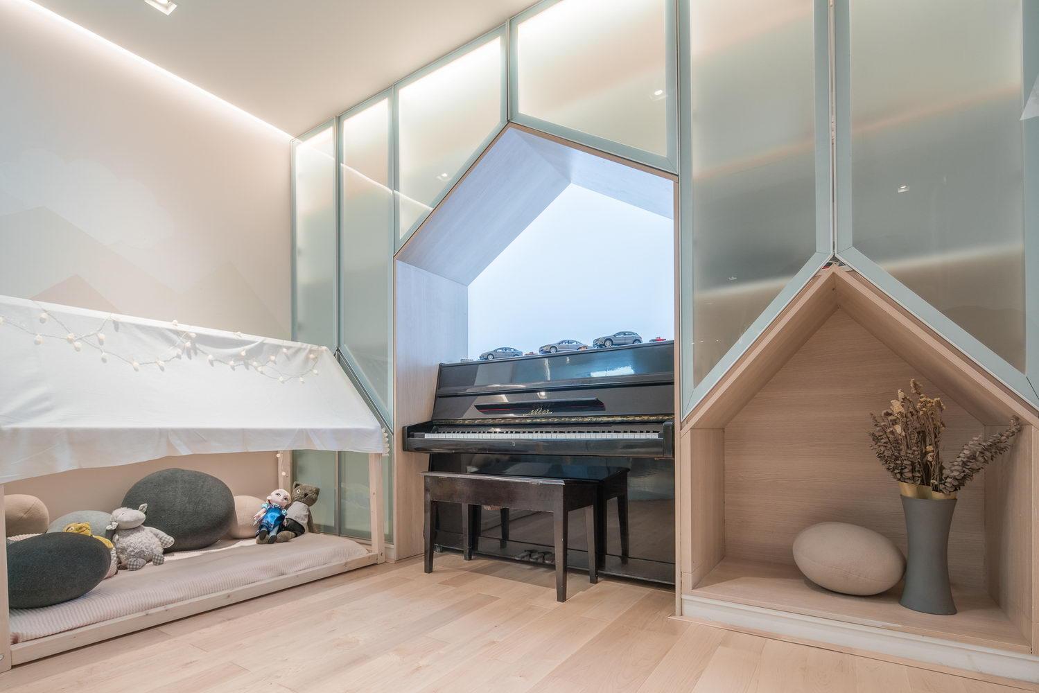 nyugtató színek - lakás zongora fülke