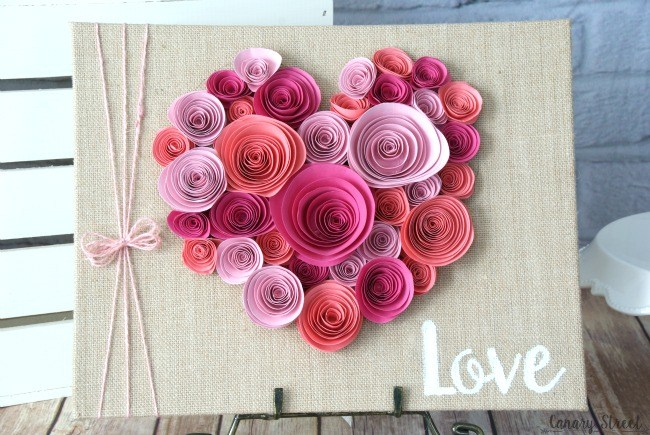 Valentin napi ötlet - papír szív kép