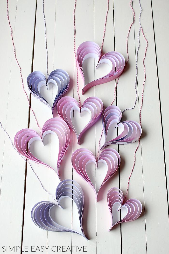 Valentin napi ötlet - szív füzér