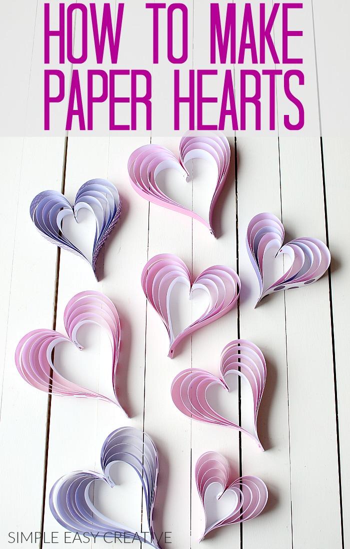 Valentin napi ötlet - papír szív füzér