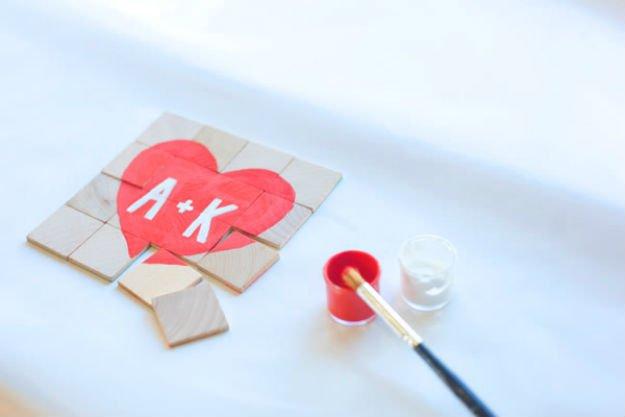Valentin napi ötlet - szív puzzle