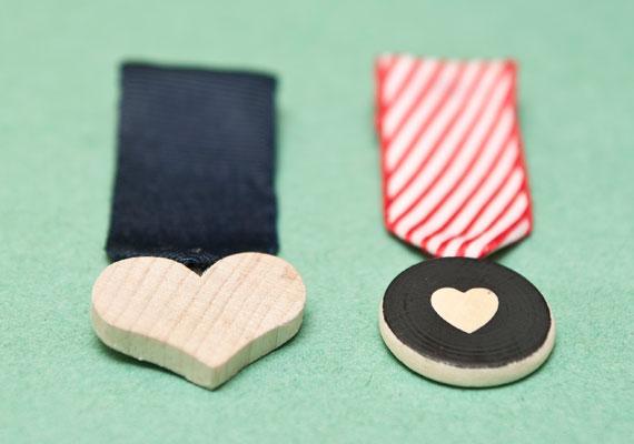 Valentin napi ötlet - medál kitüntetés jelvény