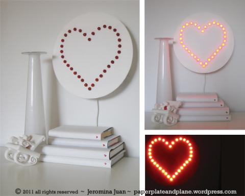 Valentin napi ötlet - szív led lámpa