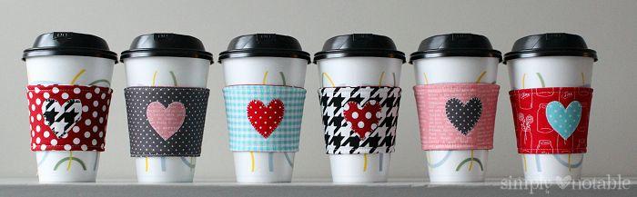 Valentin napi ötlet - kávé latte pohár bögre tartó