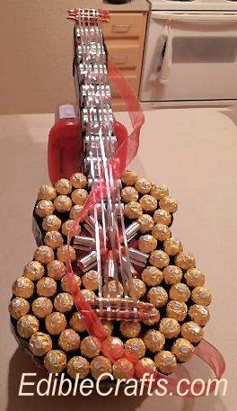 Valentin napi ötlet - csoki,, édesség gitár hangszer