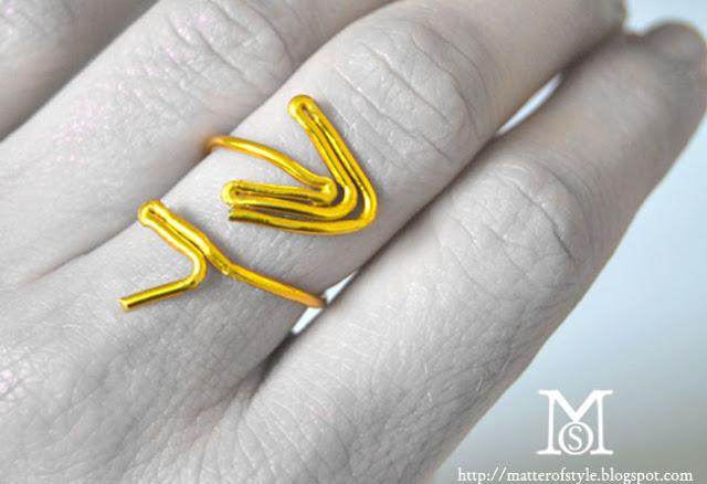 Valentin napi ötlet - Ámor nyila gyűrű