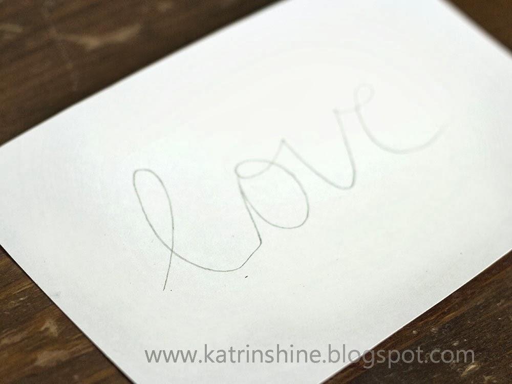 Valentin napi üdvözlő kártya - kézírás