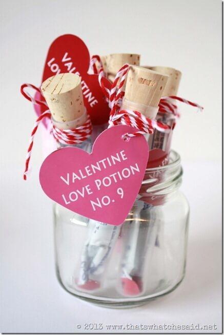 Valentin napi üdvözlő kártya - bájital