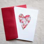 Valentin napi üdvözlő kártya - flitter szív