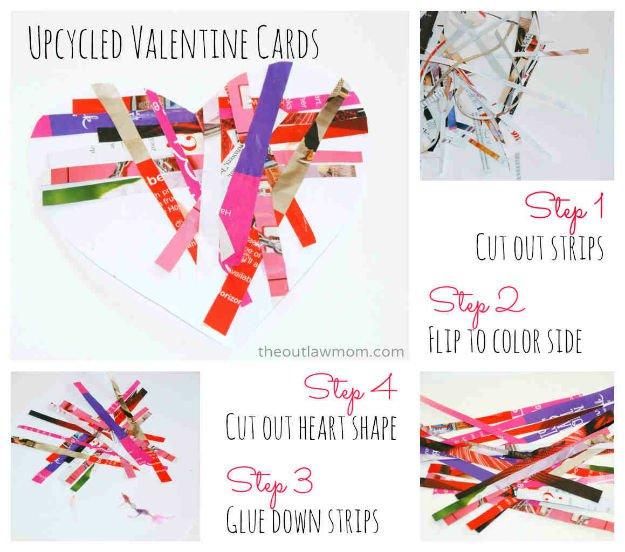 Valentin napi üdvözlő kártya - magazin újrahasznosítás
