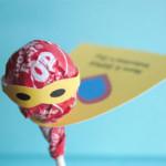 Valentin napi üdvözlő kártya - szuperhős