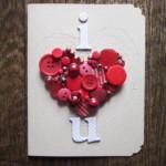 Valentin napi üdvözlő kártya - gomb