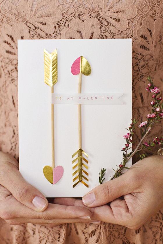 Valentin napi üdvözlő kártya - Cupido