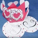 Valentin napi üdvözlő kártya - 6szög