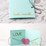 Valentin napi üdvözlő kártya - egyszerű