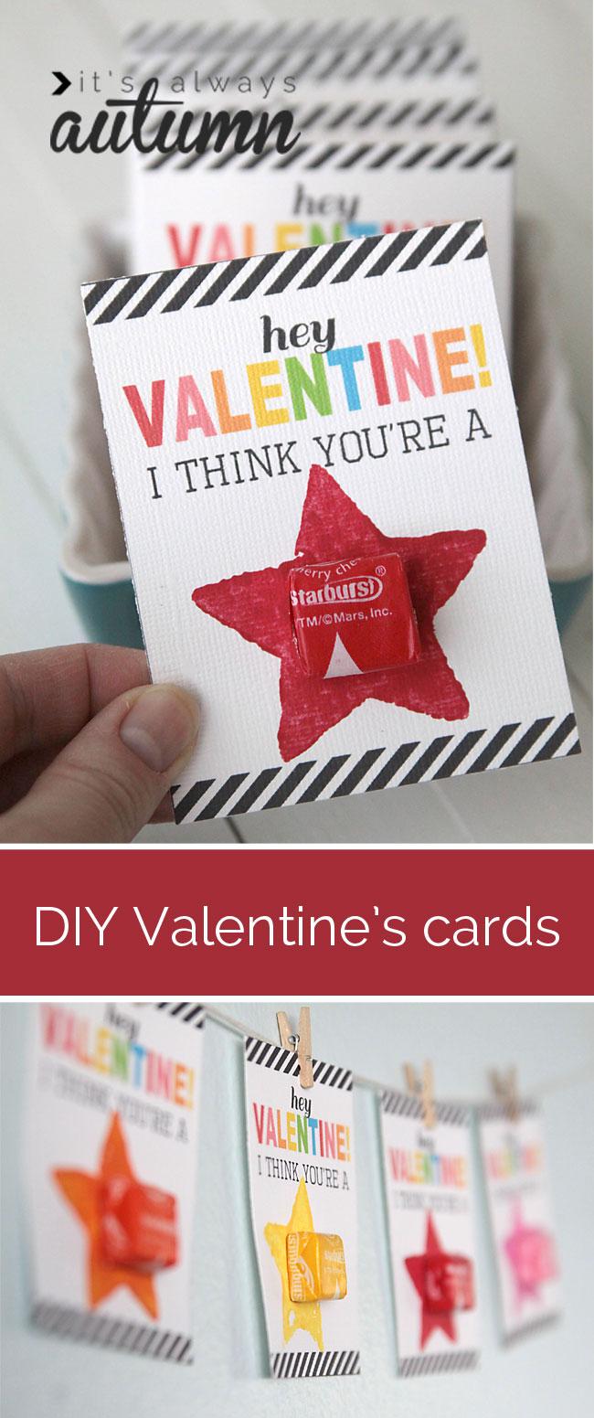 Valentin napi üdvözlő kártya - csillag