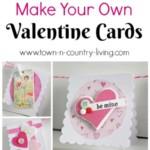 Valentin napi üdvözlő kártya - varrás és gomb