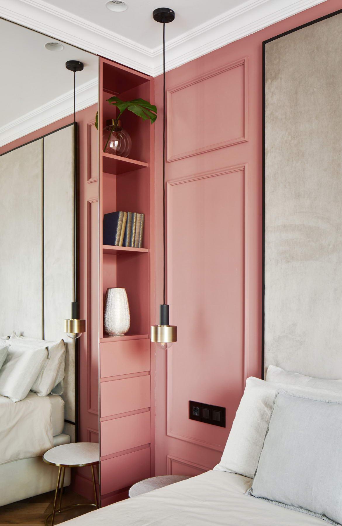 színes luxus lakás romantikus hálószoba