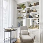 színes luxus lakás fehér romantikus nappali design bútor