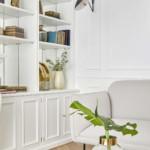 színes luxus lakás fehér romantikus nappali dekoráció