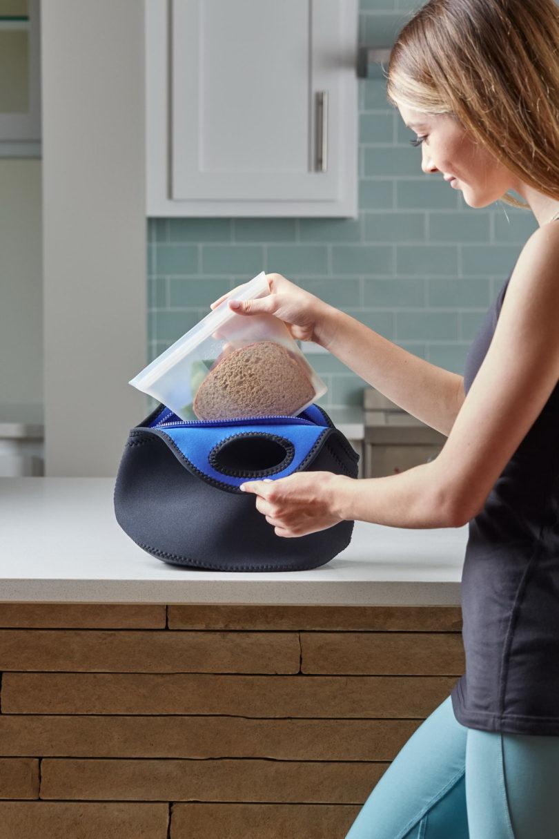 újrahasznosítható tároló szilikonból - szendvicsnek