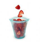 újrahasznosítható tároló szilikonból - gyümölcsöknek
