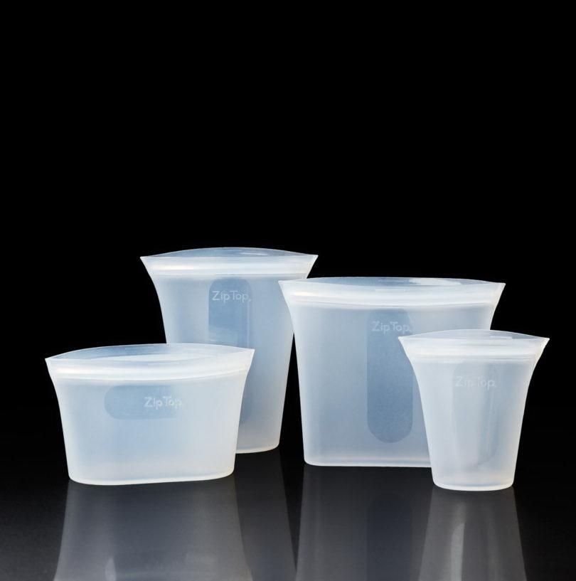 újrahasznosítható tároló szilikonból - színek