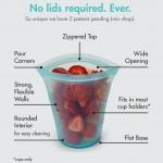 újrahasznosítható tároló szilikonból -