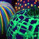fluoreszkáló halloween tök