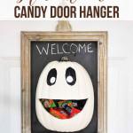halloween tök ajtó dísz és cukorka tároló Halloween