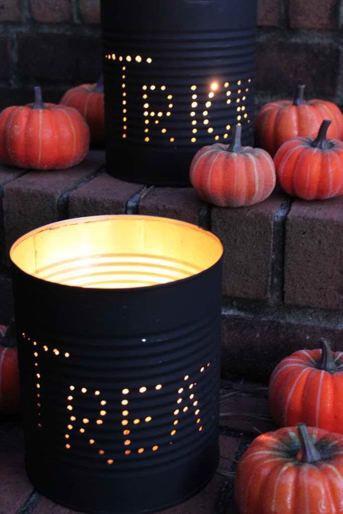 Konzervdoboz lámpa Halloween