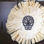 kukorica koponya fali dísz - Halloween