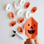 origami Halloween lámpa