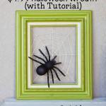 pók a falon kép - Halloween dísz dekoráció