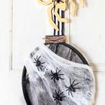 Pókháló ajtódísz Halloween