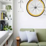 Rejtett dizájn trükkök mni lakás kis lakás - ablak szekrény - bicikli dísz