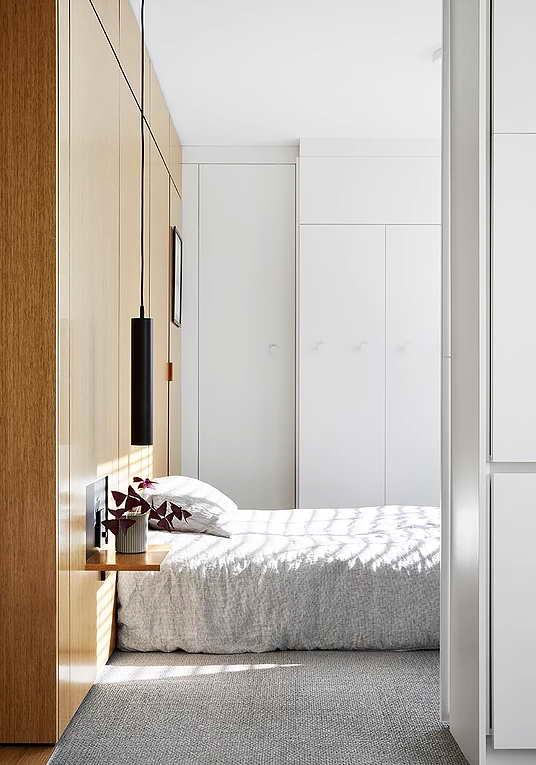 Rejtett dizájn trükkök mni lakásban kis lakásban - hálószoba