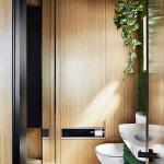 Rejtett dizájn trükkök mni lakásban kis lakásban - fa burkolat mosdó wc