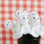 Szellem nyalóka - Halloween dekoráció dísz