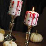 véres horror gyertya - Halloween