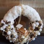 kreatív karácsonyi dekoráció - koszorú