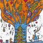 kreatív karácsonyi dekoráció - karácsonyi kép