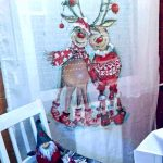 kreatív karácsonyi dekoráció - karácsonyi függöny