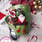 kreatív karácsonyi dekoráció - karácsonyi bögre